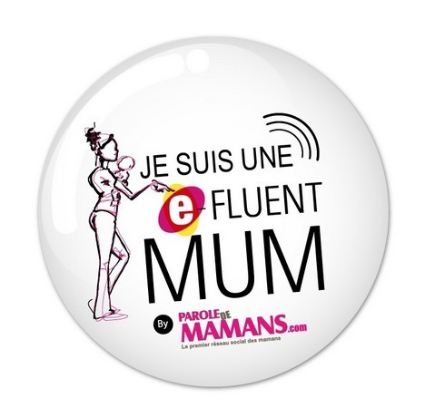 Badge E-fluent Mums